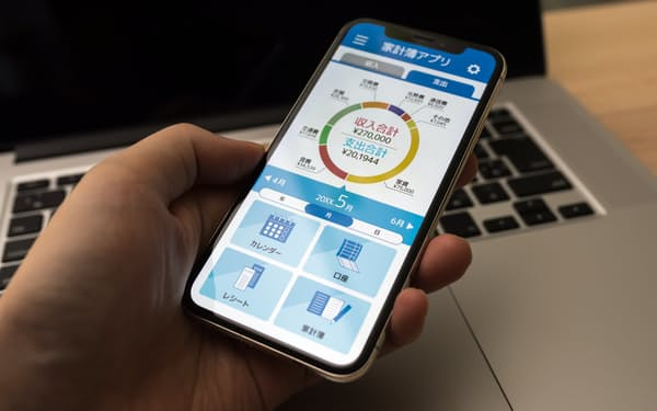 家計簿アプリを使えば支出の把握が簡単にできる(写真はイメージ=PIXTA)