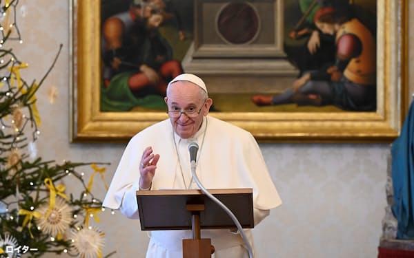 教皇フランシスコは若い頃に病気で肺の一部を摘出した=ロイター