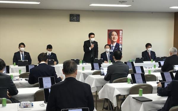 15日に開いた自民党外交部会などの合同会議(党本部)