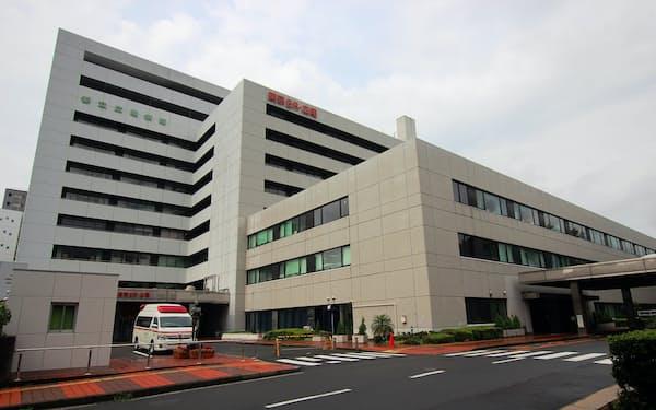 重点医療機関の一つとなった都立広尾病院(東京都渋谷区)