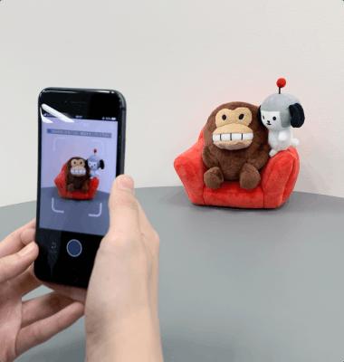 出品物をアプリの指示に従って多角度から撮影する