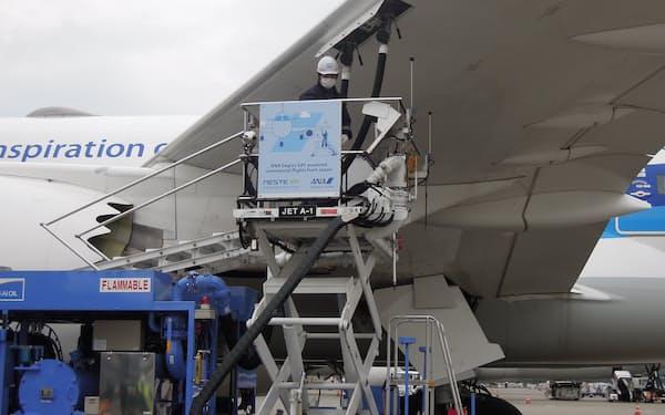 伊藤忠商事が納入した再生燃料が、ANAの旅客機に使われた