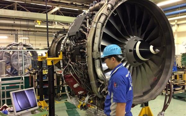 新型コロナの影響で航空エンジン事業の環境は厳しい(東京都瑞穂町)
