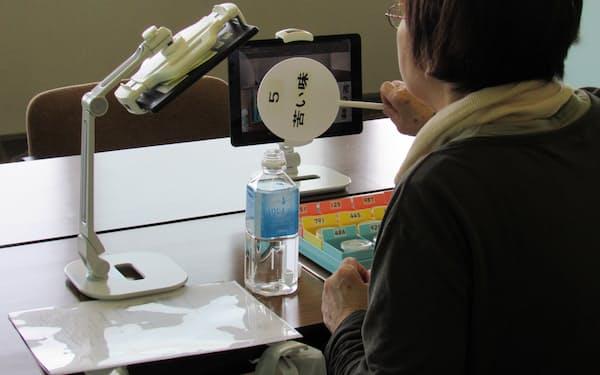 2020年度の味覚検査はオンラインでも実施した(弘前市岩木地区での住民健診)