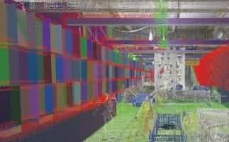 新システムではカメラで取得したデータを、BIMと重ね合わせ表示する