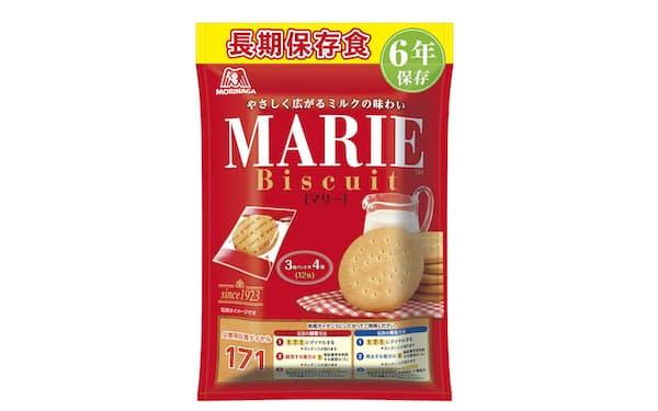 森永製菓は非常袋に入れることを想定したビスケット「長期保存食マリー」を発売する