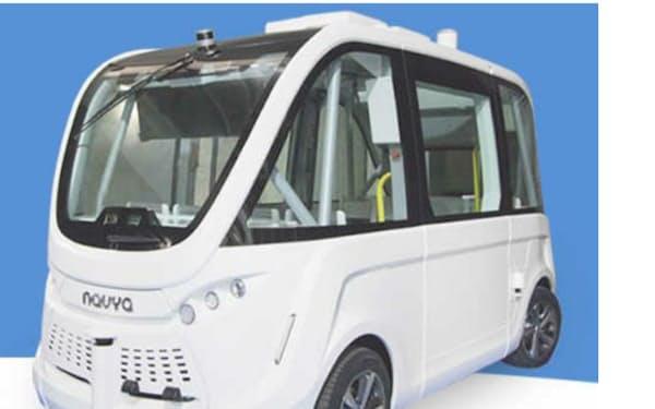 無人運転用に開発された車両を使用する