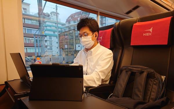 JR東日本千葉支社は成田エクスプレスの車両内をシェアオフィスにする実証実験を行った