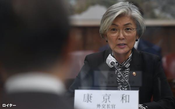 康京和外相は昨年12月、北朝鮮の金与正氏の非難を受けていた=ロイター