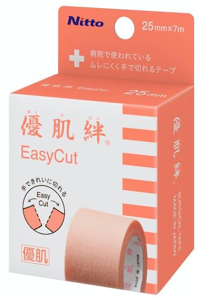 ニトムズが個人向けに発売した医療用テープ「優肌絆 EasyCut」