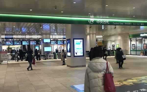 JR千葉駅着の終電も繰り上がる(20日)