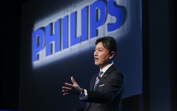 2021年の事業戦略を説明するフィリップス・ジャパンの堤浩幸社長