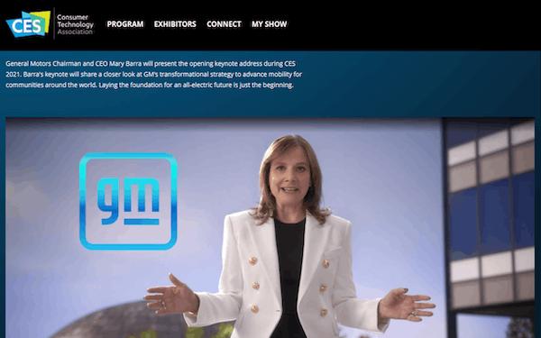 GMのバーラCEOは「全電動の未来」についてCESで講演した(12日)