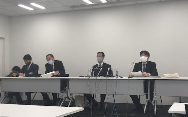 横浜市の担当者が事業者公募の概要を説明した(横浜市役所)