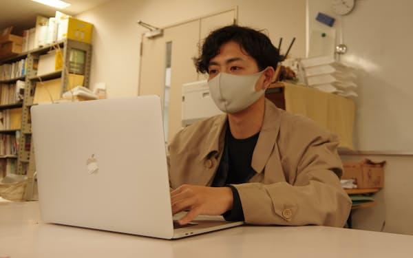 福井大学の大学院で建築を学ぶ高橋駿介さん