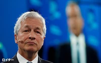 JPモルガン・チェースのダイモンCEOはフィンテック企業の攻勢に危機感を募らせる=ロイター