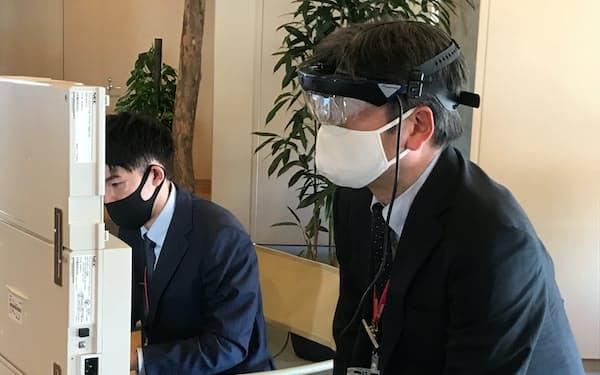 ドコモのARなどのデジタル技術を提供する(25日、前橋市)