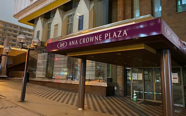 ANAクラウンプラザホテル札幌は営業を休止している(26日、札幌市)