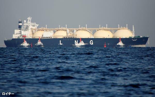 アジア全体でLNGの争奪戦となった=ロイター