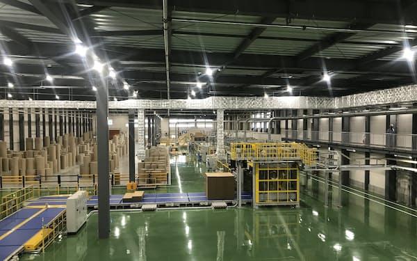 製紙各社は非洋紙事業の強化を加速させる(王子HDの船橋工場)