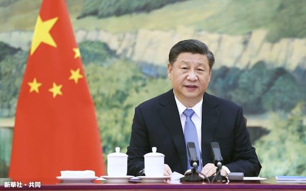 中国の習近平国家主席=27日、北京(新華社=共同)