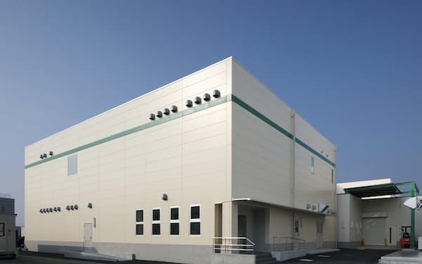 JCRファーマの室谷工場(神戸市)内にあるワクチン原液の製造棟