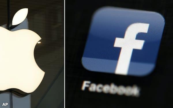 米メディアは28日、フェイスブックがアップルを相手取った独禁法訴訟を準備していると報じた=AP