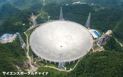 中国の電波望遠鏡「天眼」は直径が500メートルと世界最大だ