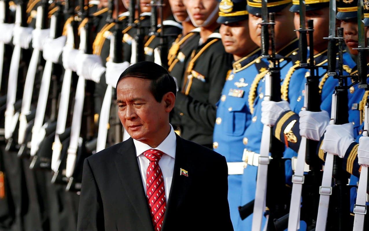 ミャンマーのウィン・ミン大統領=ロイター