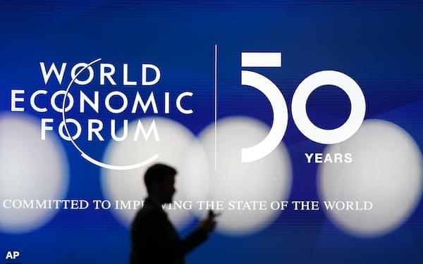 例年のダボス会議には各国の首脳や経営者ら約3000人が参加する=AP