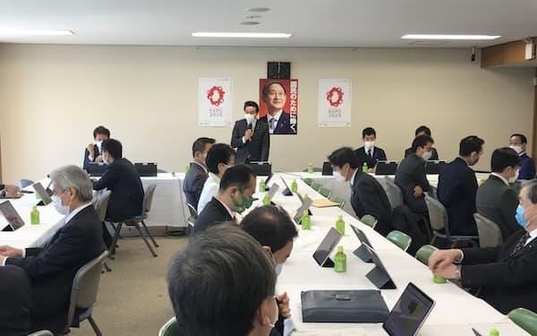 「台湾PT」の立ち上げを発表した自民党の佐藤外交部会長(5日、自民党本部)
