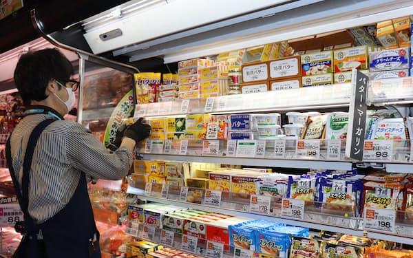 昨春のようなバターの品切れは現在起きていない(2月上旬、東京都練馬区のスーパー)