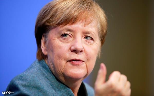 ドイツのメルケル首相はアカウント凍結を「法に基づくべきだ」と批判した=ロイター