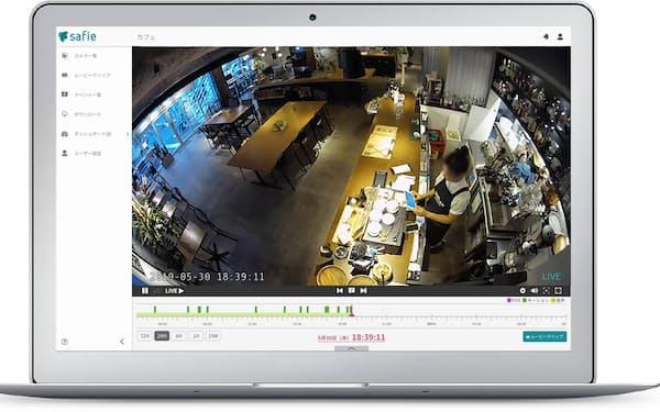 セーフィーは監視カメラの映像をクラウド経由で提供する。