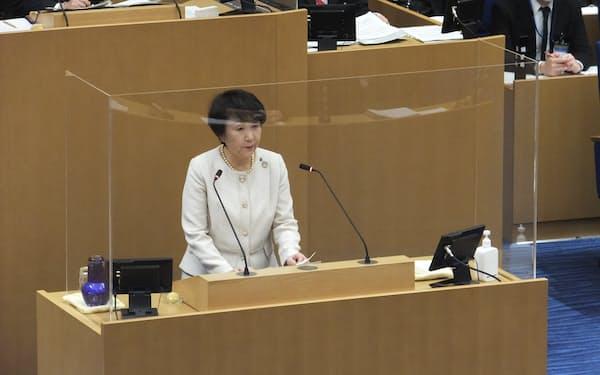 林市長は新型コロナウイルスのワクチン接種について「感染拡大防止の大きな肝となる」と体制作りの重要性を強調した(10日、横浜市議会)