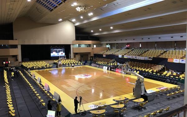 新たに太田市運動公園市民体育館をホームアリーナにする(群馬県太田市)