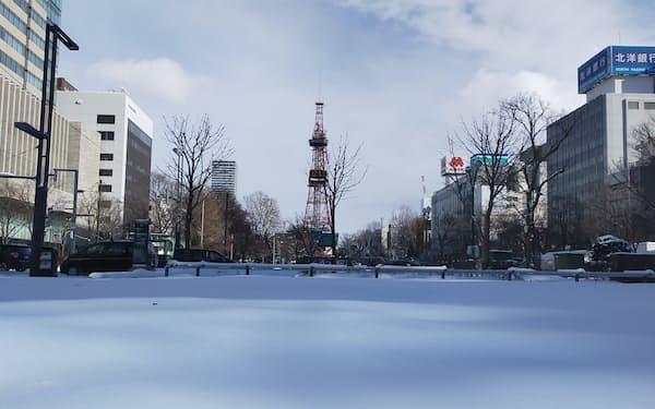 札幌ではマラソン、競歩、サッカーの開催が予定されている(大通公園)