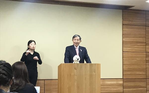 2021年度予算案について説明する和歌山県の仁坂吉伸知事