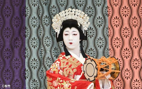 静御前を演じる中村壱太郎(2020年、大阪松竹座)