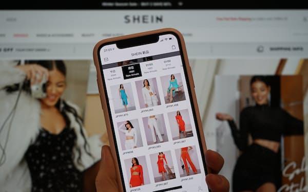 シーインのアプリには毎日大量の新着商品が並ぶ