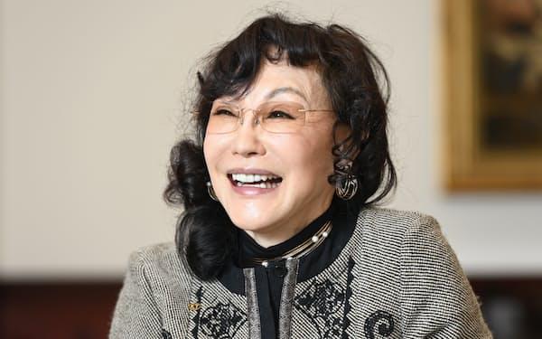 襟川恵子 コーエーテクモホールディングス会長(撮影=塩田信義)