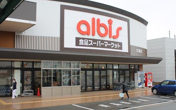 還元事業最終日となった10日のアルビス大島店の売上高は前年同日比約2倍になった(富山県射水市)