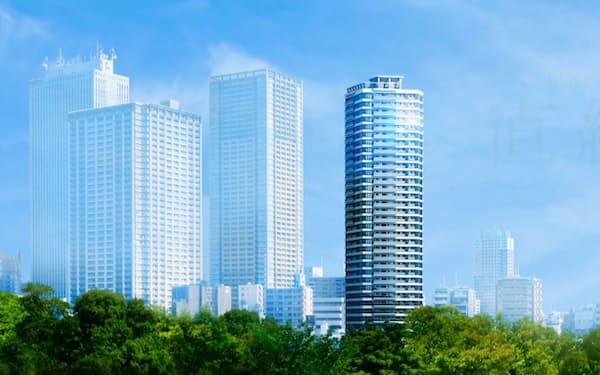 プラウドタワー東池袋ステーションアリーナ(写真中央)の完成イメージ
