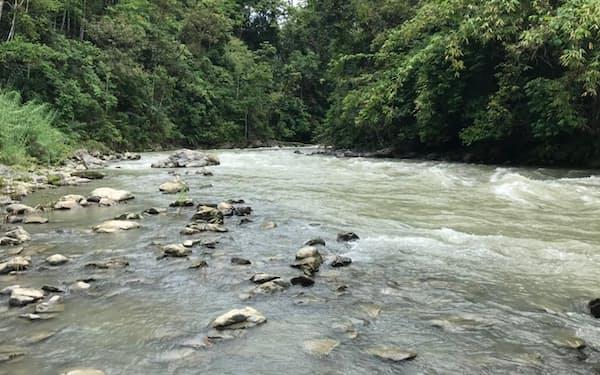 発電所建設予定地のサパレワ川(インドネシアのセラム島)
