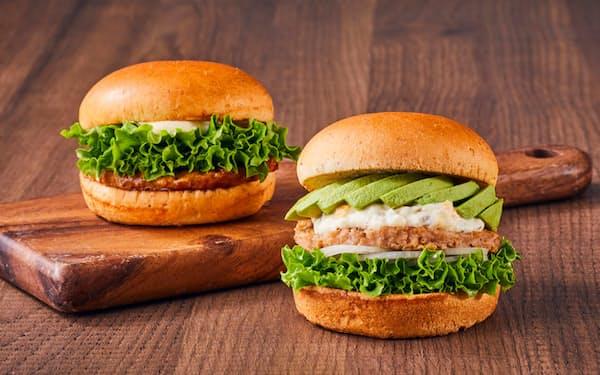 DAIZの植物由来の大豆パティは、ハンバーガーチェーンの「フレッシュネスバーガー」にも採用された