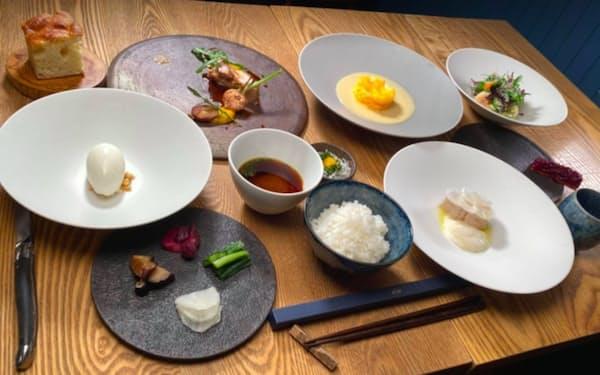 sioが1月から始めた朝ディナーはフルコースで6000円。1カ月先まで予約が埋まっている