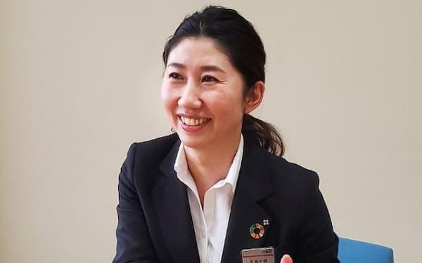 八十二銀行須坂支店個人課の北島千鶴氏