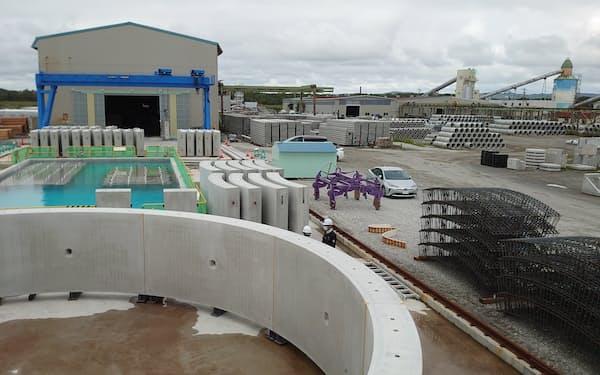 会沢高圧コンクリートは札幌菊水工場や鵡川工場で低炭素コンクリートの製造を始める