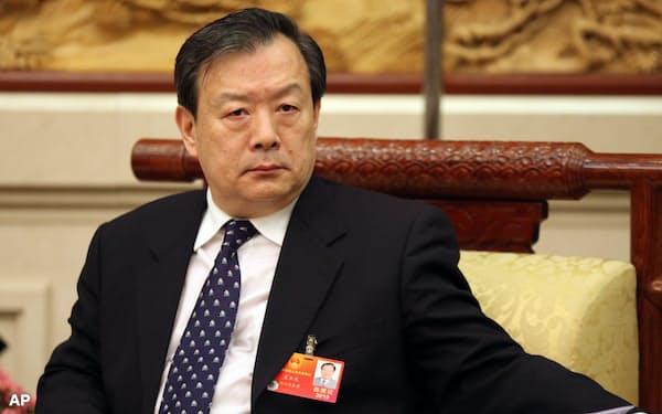 夏宝竜・香港マカオ事務弁公室主任は愛国者による香港統治を強調した=AP