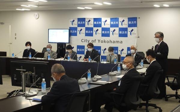 会議には市薬剤師会や市歯科医師会も参加した(横浜市役所)